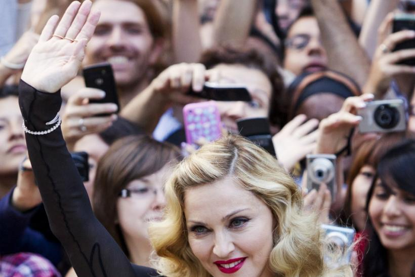 "Madonna arrives on the red carpet for the film ""W.E.""during Toronto International Film Festival"