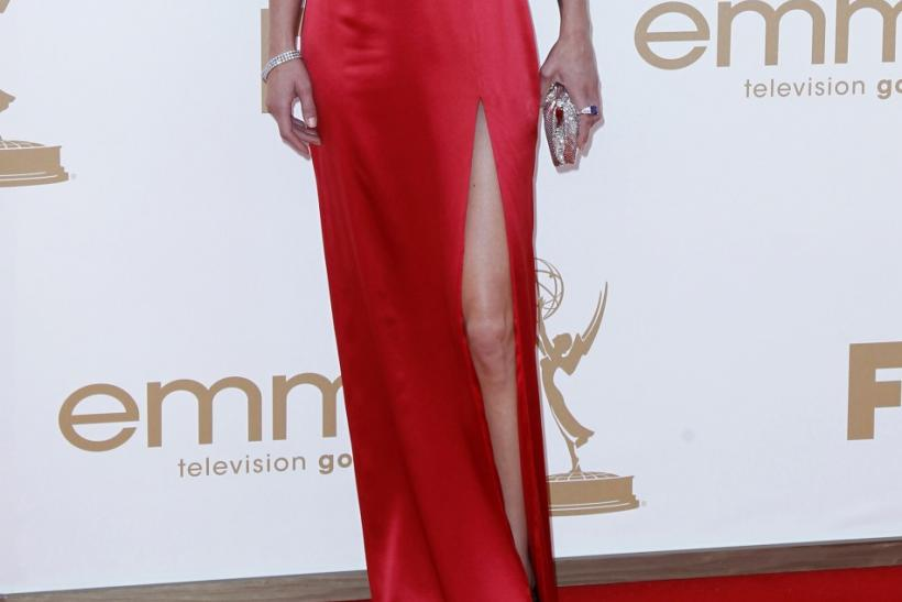 "Actress Adrianne Palicki from ""Friday Night Lights"" arrives at the 63rd Primetime Emmy Awards in Los Angeles"