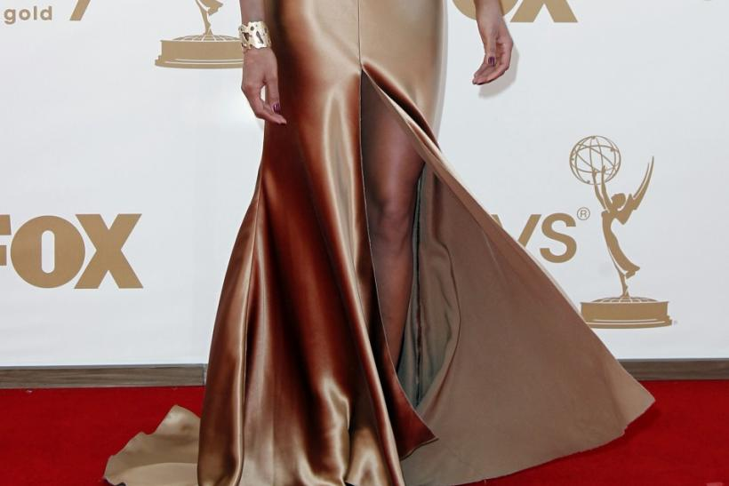 "Padma Lakshmi from ""Top Chef"" arrives at the 63rd Primetime Emmy Awards in Los Angeles"