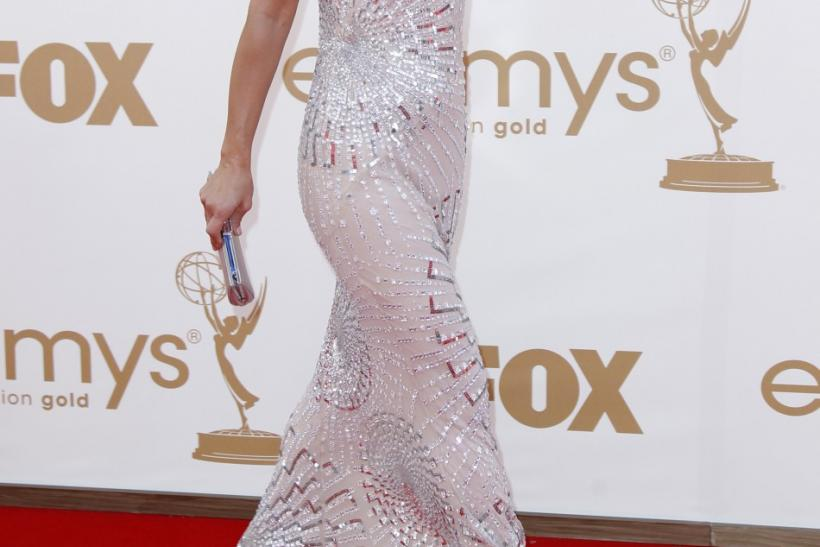 "Actress Maria Bello from television series ""Prime Suspect"" arrives at the 63rd Primetime Emmy Awards in Los Angeles"