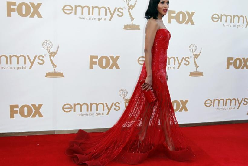 Actress Kerry Washington arrives at the 63rd Primetime Emmy Awards in Los Angeles