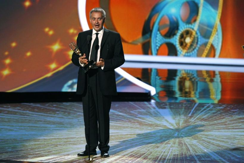 "Dirctor Brian Percival accepts the award for outstanding directing for a miniseries, movie or a dramatic special for ""Downtown Abbey"" at the 63rd Primetime Emmy Awards in Los Angeles"
