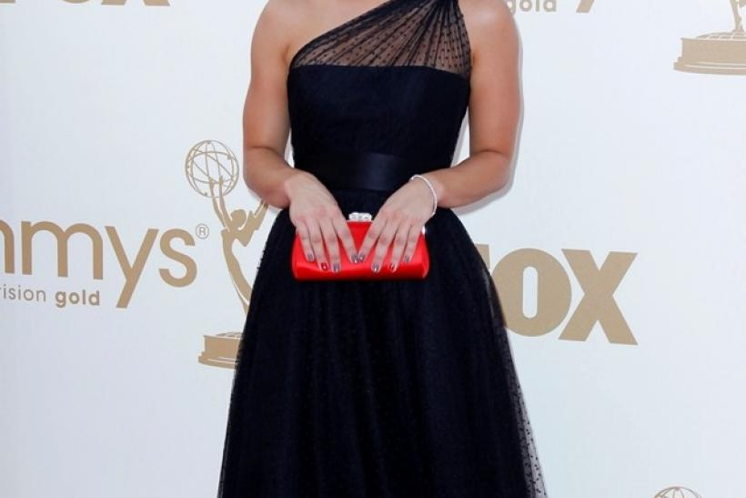 "Actress Kaley Cuoco from ""Big Bang Theory"" arrives at the 63rd Primetime Emmy Awards in Los Angeles"