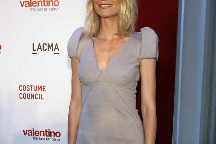 "Actress Paltrow poses at the West Coast premiere of ""Valentino: The Last Emperor"" in Los Angeles"