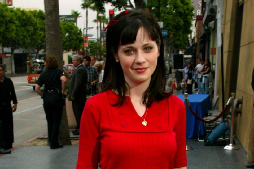 "Actress Zooey Deschanel arrives as a guest for a screening of the film ""The Right Stuff"" at the 20th anniversary of the film in Hollywood June 9, 2003."