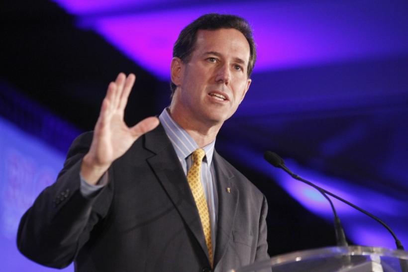 U.S. Senator Santorum speaks during the Republican Leadership Conference in New Orleans