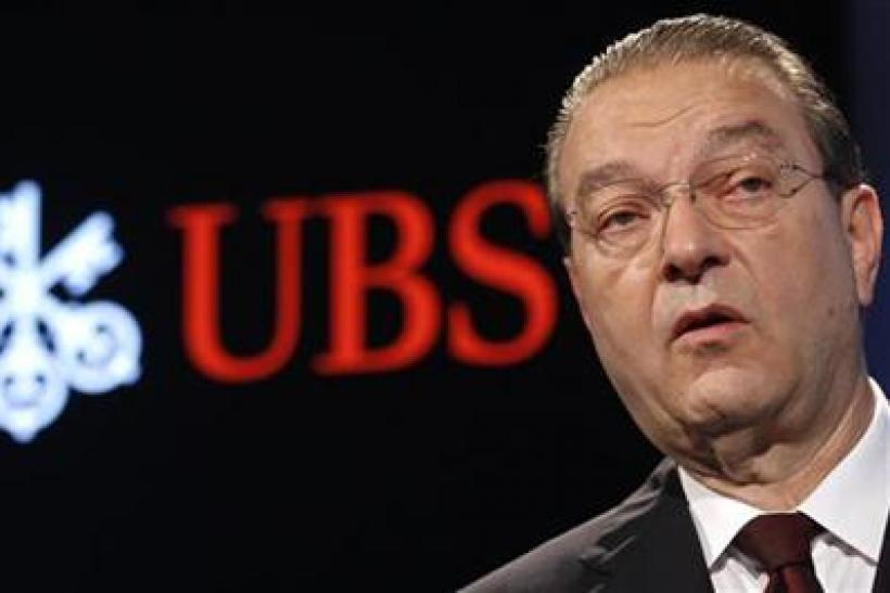 Swiss bank UBS CEO Oswald Gruebel attends his company's second quarter 2011 results news conference in Zurich