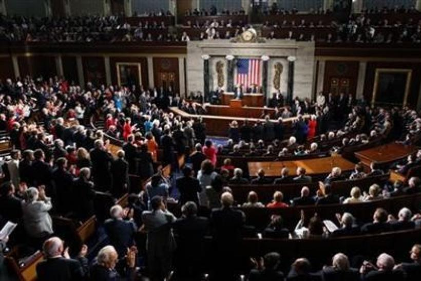 A Joint Session of Congress inside the chamber of the House of Representatives on Capitol Hill in Washington