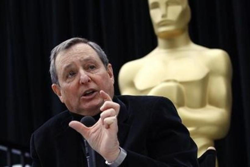 Tom Sherak, president of The Academy of Motion Picture Arts & Sciences, speaks at a news conference during preparations for the 83rd Academy Awards in Hollywood, California