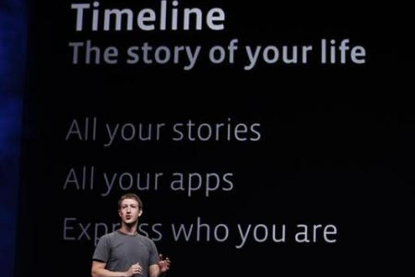 Facebook CEO Mark Zuckerberg introduces Timeline for Facebook in San Francisco