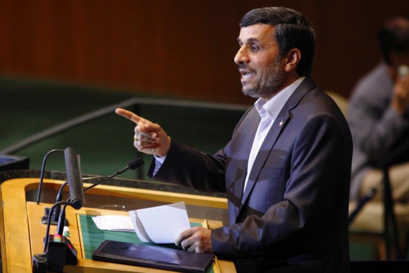 Ahmadinejad addresses the United Nations