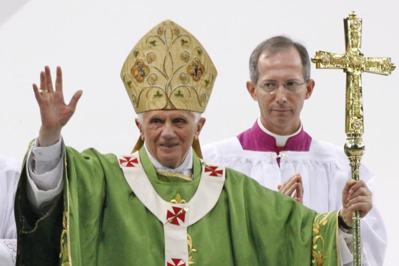 Pope Benedict XVI celebrates Holy Eucharist at the Olympic stadium in Berlin