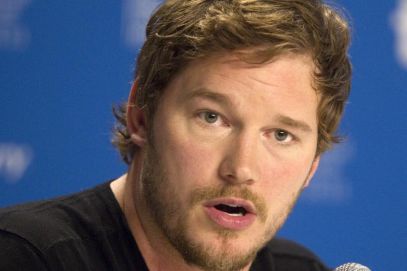 "Actor Chris Pratt attends the news conference for the film ""Moneyball"" at the 36th Toronto International Film Festival"