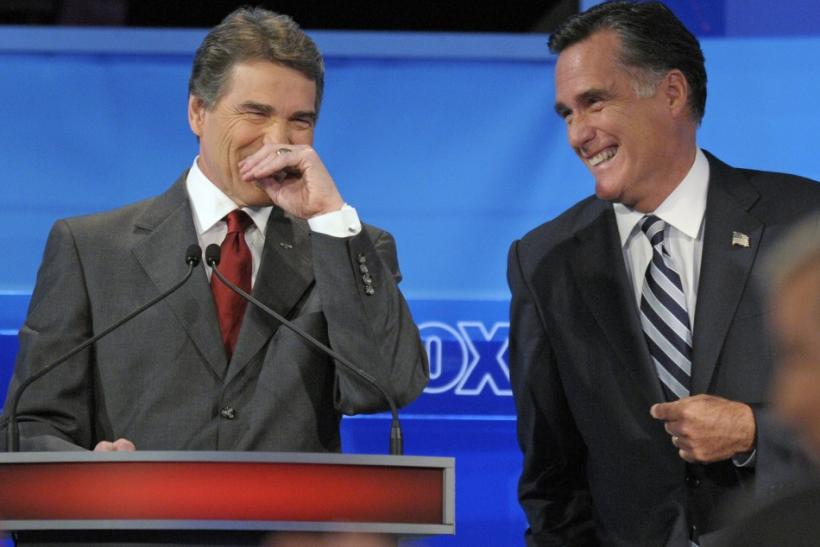 Perry and Romney at Debate