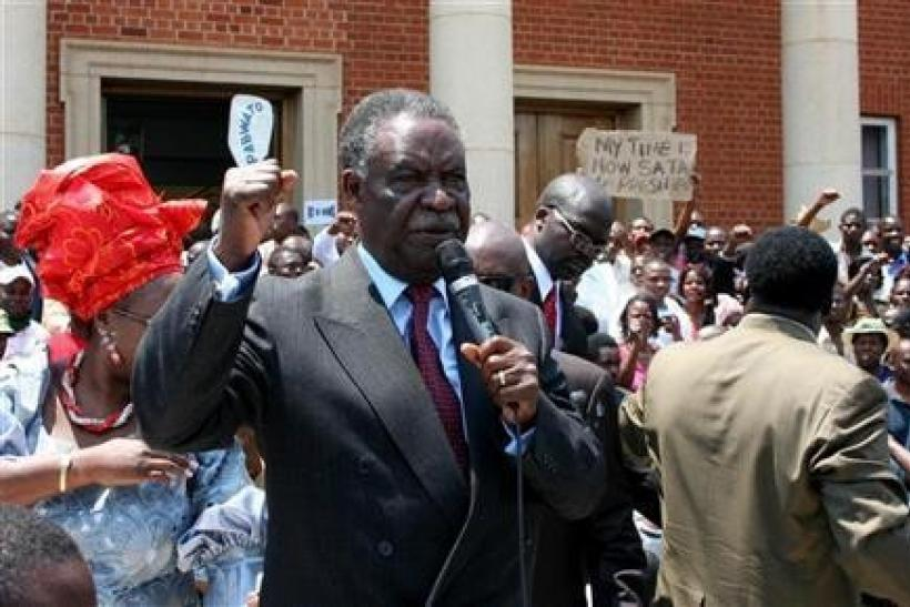 "File photo of Zambia""s newly appointed president Michael Sata,"