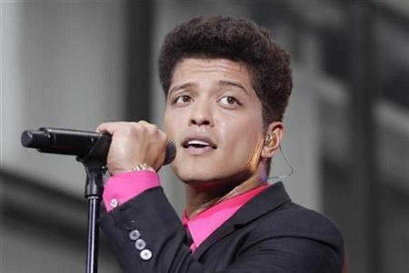 Singer Bruno Mars performs on NBC's ''Today'' show in New York
