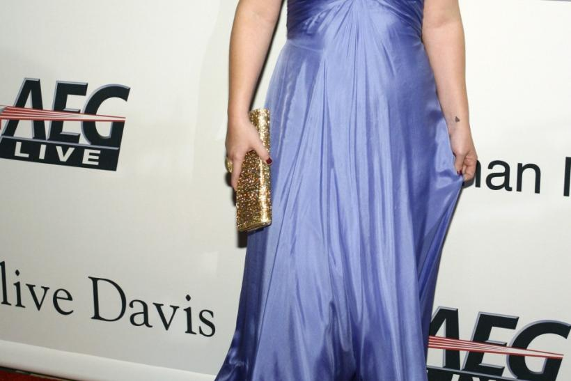 Kelly Clarkson arrives at the Recording Academy's Clive Davis pre-Grammy party in Beverly Hills, California