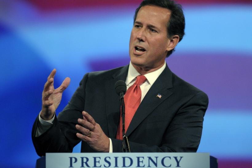 Rick Santorum at Debate