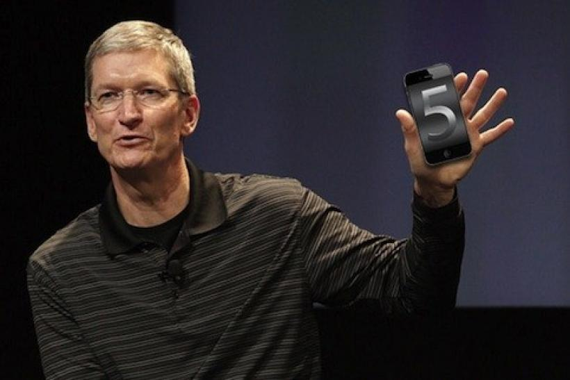 Tim Cook with the iPhone