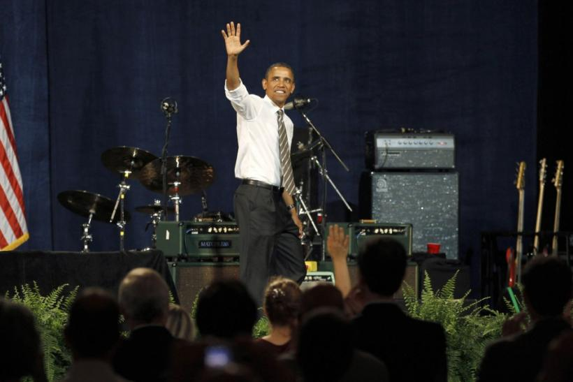 U.S. President Barack Obama at a Democratic party fundraiser in Seattle