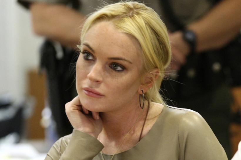 Lohan appears in Airport Courthouse in Los Angeles.