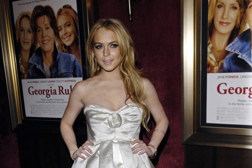 "Lindsay Lohan arrives for the premiere of the film ""Georgia Rule"" in New York."
