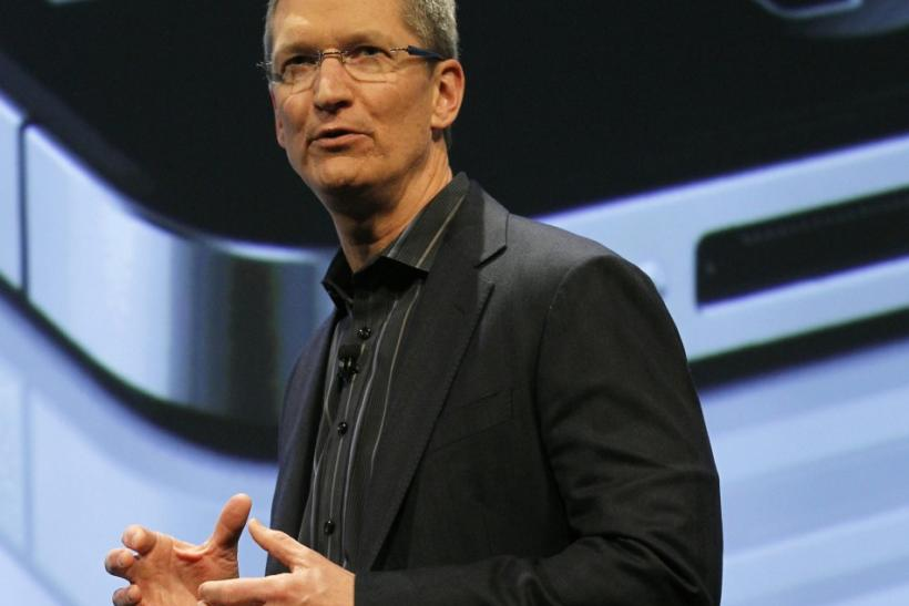 Tim Cook speaks at the Verizon iPhone 4 launch event in New York. Next week, he will present a new Apple product, the iPhone 5, for the first time as CEO.