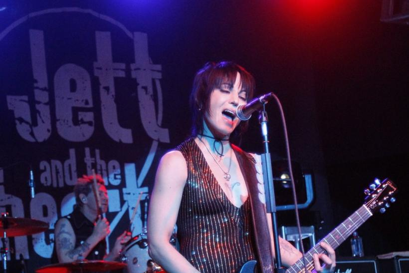 Rock singer Joan Jett and the Blackhearts perform during the 2010 Sundance Film Festival in Park City