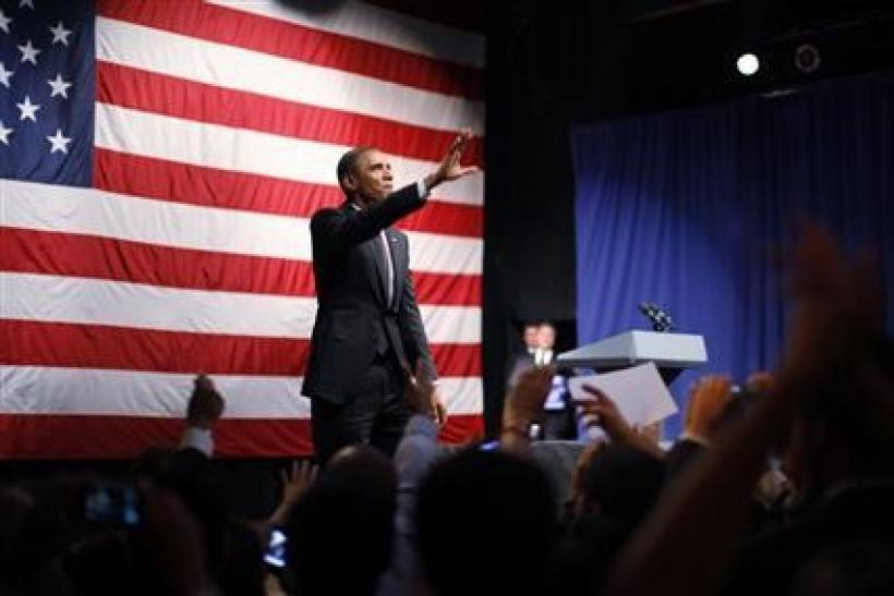 President Obama participates in an election campaign rally at the House of Blues in Los Angeles
