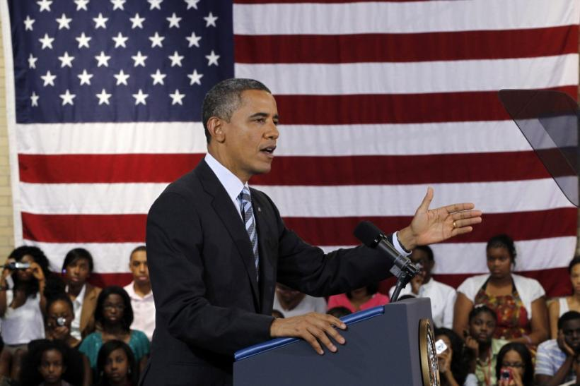 U.S. President Barack Obama speaks at a school in Washington