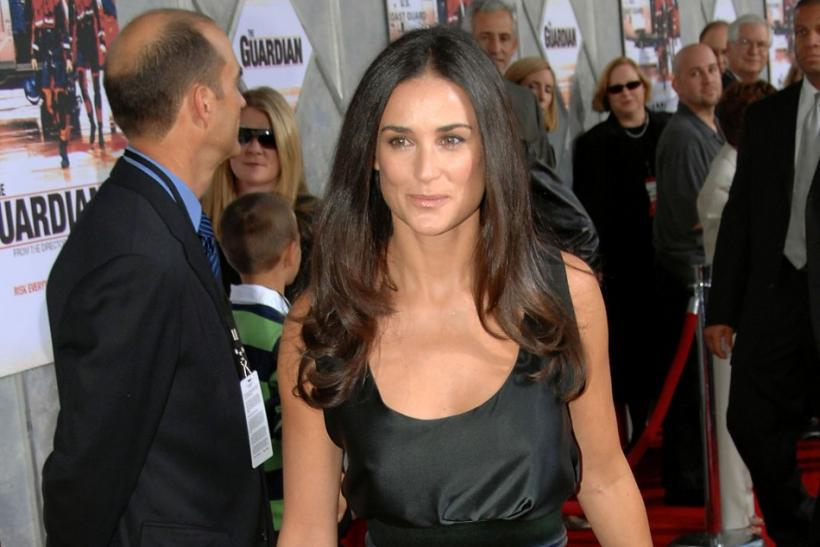 "Actress Demi Moore arrives for the premiere of the film ""The Guardian"" in Washington"