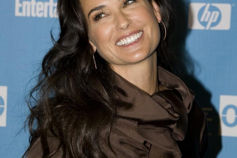 "Actress Demi Moore attends the premiere of the movie ""Spread"" during the 2009 Sundance Film Festival in Park City, Utah."