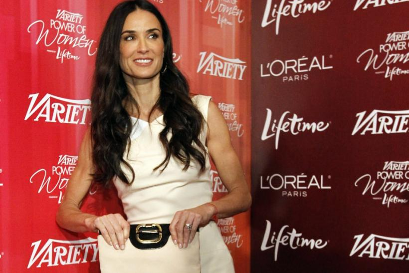 Moore poses at Variety's 3rd Annual Power of Women luncheon in Beverly Hills