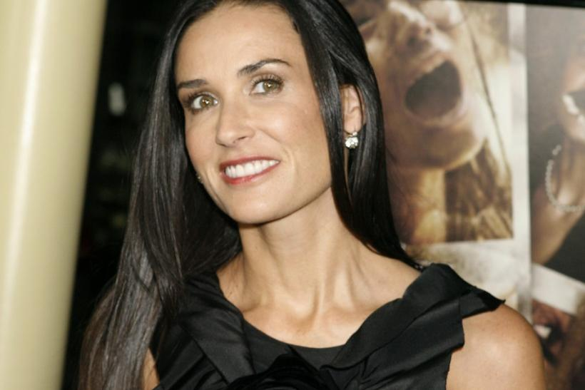 "Actress Demi Moore arrives at the premiere of daughter Rumer Willis's new film ""Sorority Row"" in Hollywood, California"