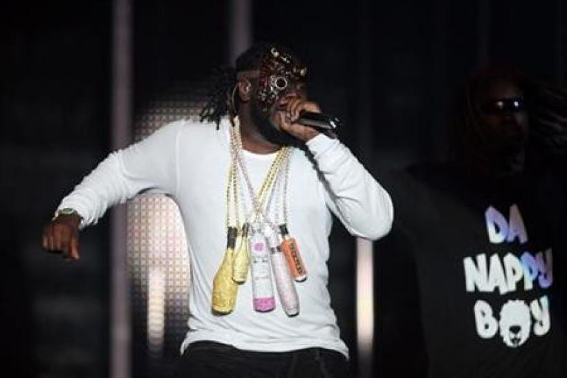 U.S. rapper T-Pain performs during the MTV Africa Music Awards in Lagos