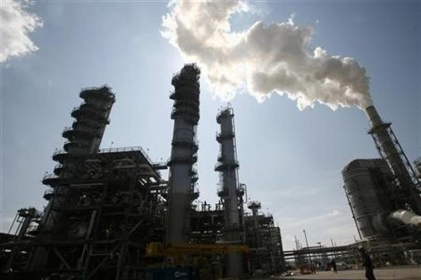 The Valero St. Charles oil refinery is seen during a tour of the refinery in Norco, Louisiana