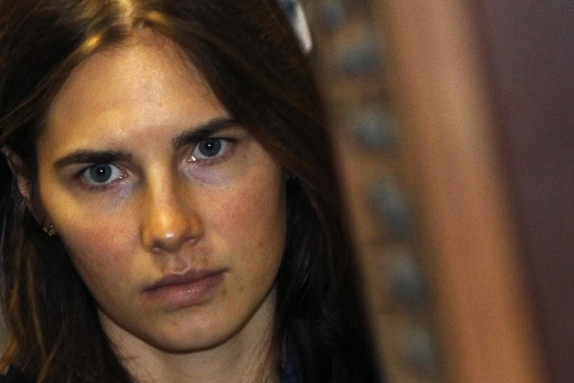 Knox, U.S. student convicted of murdering her British flatmate Kercher in Italy in November 2007, arrives in court in Perugia 30/09/2011