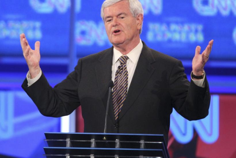 Newt Gingrich at Tampa Debate