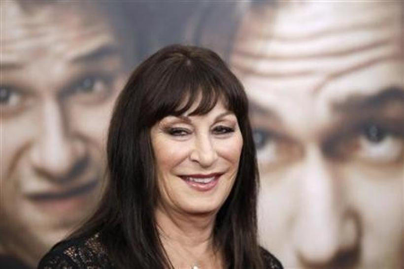 Cast member Anjelica Huston arrives for the premiere of the film ''50/50'' in New York