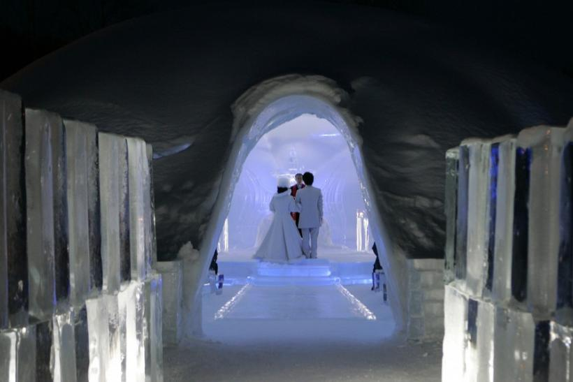Alpha Resort Tomamu's ice chapel, Shimukappu, Japan