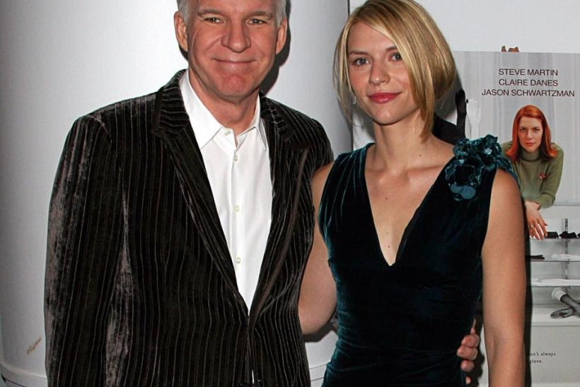"Steve Martin and Claire Danes pose for pictures at a special screening of ""Shopgirl"" in New York City"