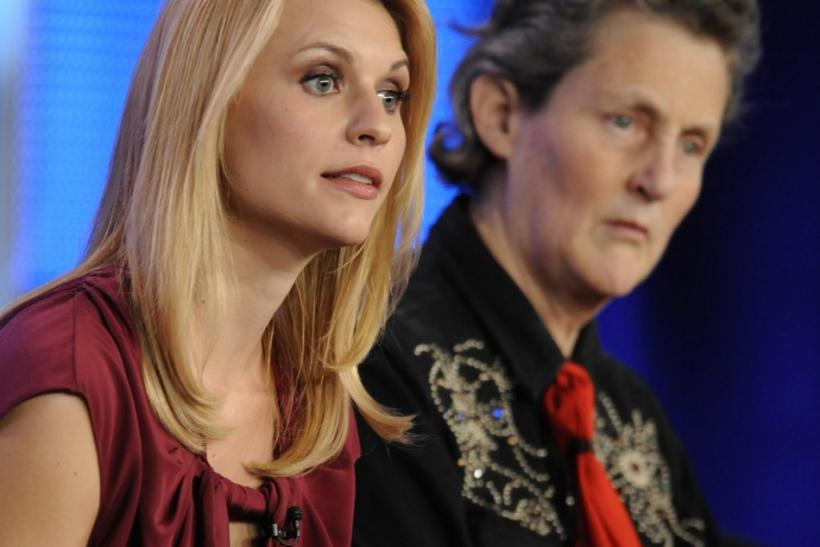 "Actress Claire Danes and Dr. Temple Grandin participate in a panel for HBO's ""Temple Grandin"" during the HBO sessions of the Television Critics Association winter press tour in Pasadena"