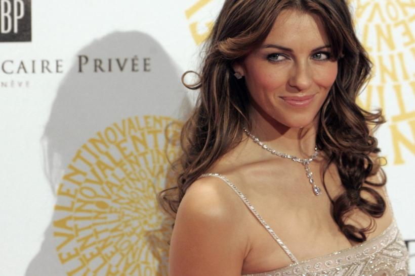 Actress Elizabeth Hurley poses for photographers in Rome