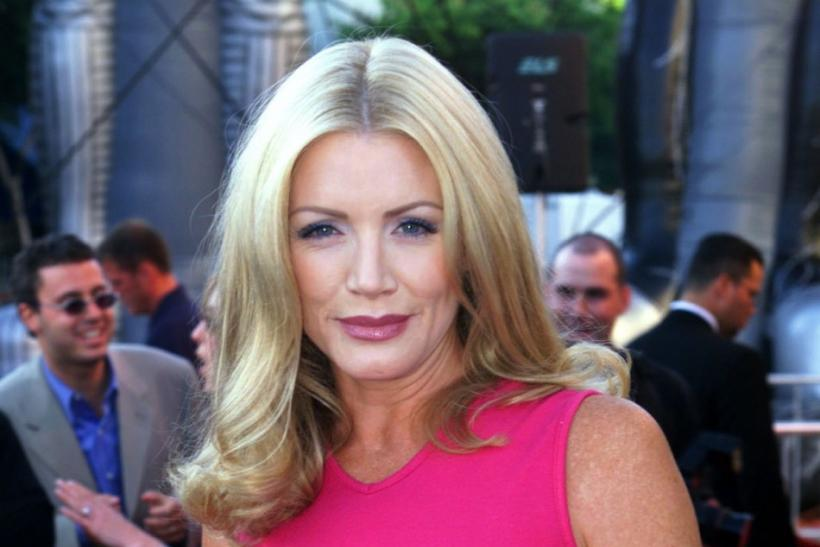 "Actress Shannon Tweed, one of the stars of the new film "" Detroit Rock City"" poses at the film's premiere August 9 in Los Angeles"