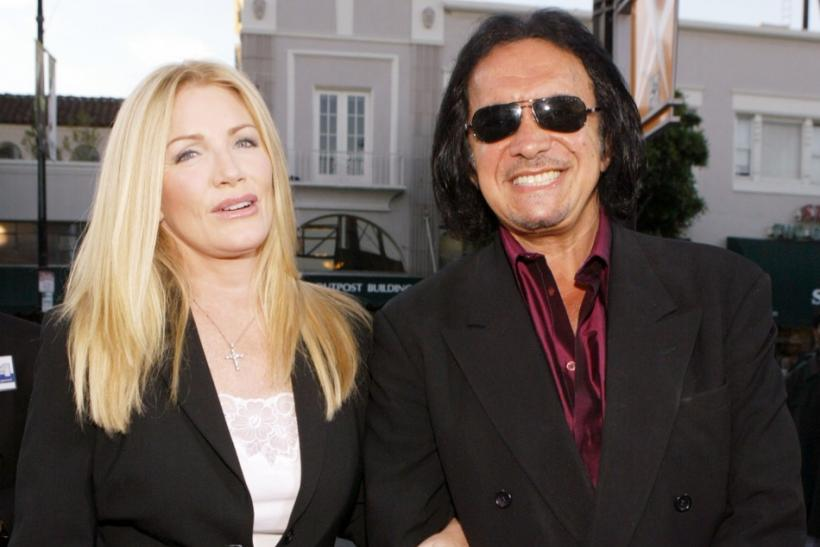 "U.S. actress Shannon Tweed and husband U.S. rock musician Gene Simmons arrive for the premiere of ""Rize"" at the Egyptian Theatre in Hollywood"