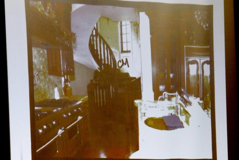 A photo of late pop star Michael Jackson's kitchen is presented by the prosecution during Dr. Conrad Murray's involuntary manslaughter trial in Los Angeles