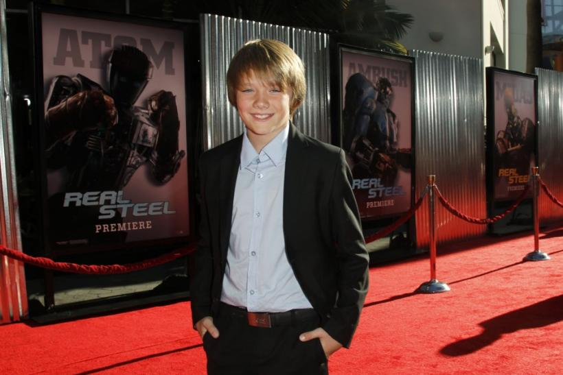 "Cast member Dakota Goyo poses at the premiere of DreamWorks Pictures' ""Real Steel"" in Los Angeles"