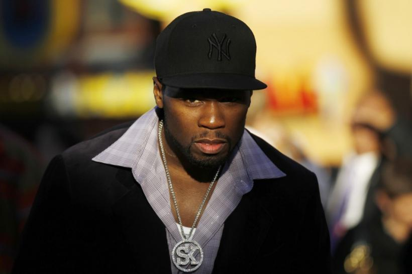 "Rapper Curtis ""50 Cent"" Jackson arrives at the premiere of ""Real Steel"" in Los Angeles"