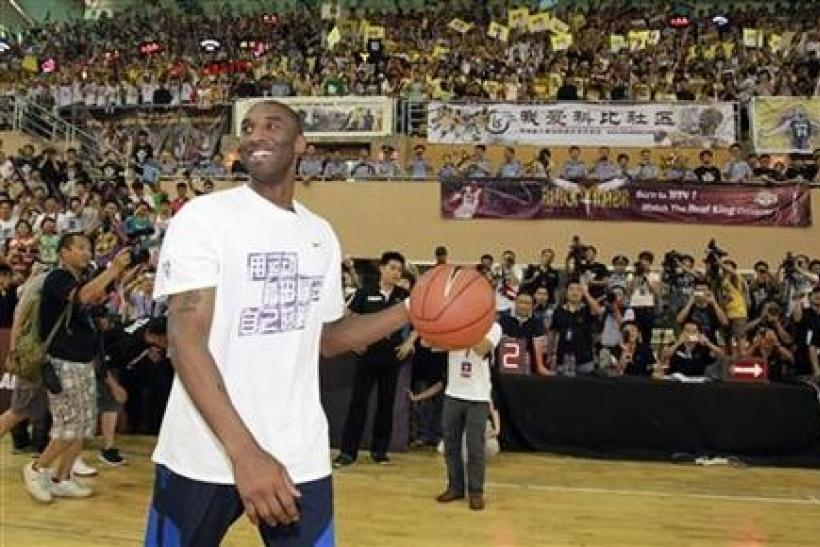 NBA basketball player Kobe Bryant of the Los Angeles Lakers