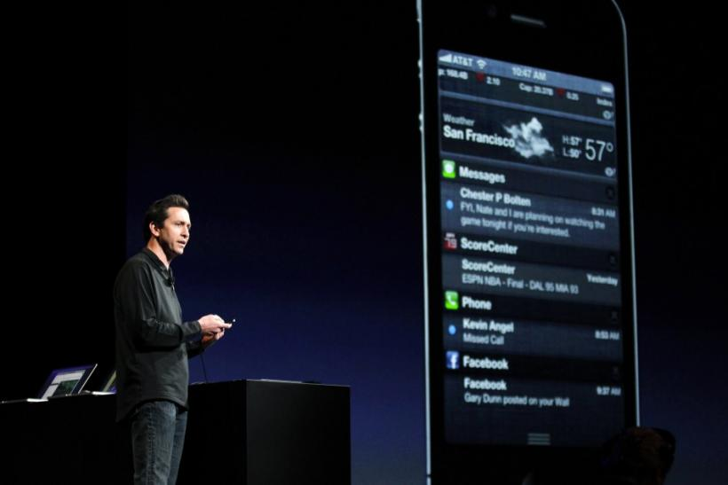 Apple executive Scott Forstall at Worldwide Developers Conference